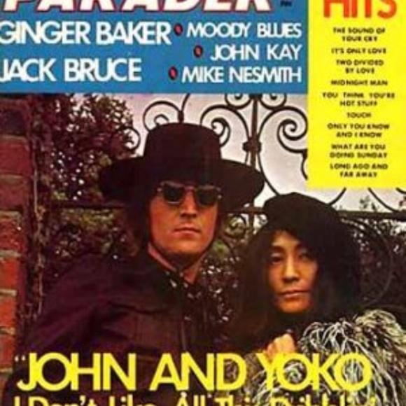 Feb. '72 Hit Parader Mag John Lennon & Yoko Poster